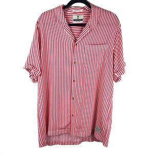 Scotch & Soda The Poolside Red Stripe Button Shirt